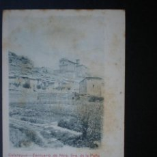 Postales: ARAGÓN CALATAYUD ERMITA DE LA PEÑA AÑO 1903. Lote 39336675