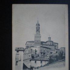 Postales: ARAGÓN ATECA IGLESIA PARROQUIAL DE SANTA MARÍA ANTERIOR A 1905. Lote 39345602