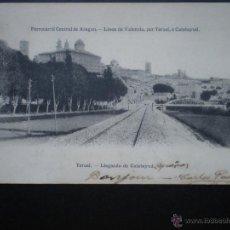 Postales: ARAGÓN TERUEL LLEGANDO DE CALATAYUD FERROCARRIL CENTRAL. Lote 39345609