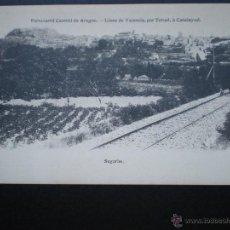 Postales: VALENCIA CASTELLÓN SEGORBE FERROCARRIL CENTRAL ARAGÓN . Lote 39345631