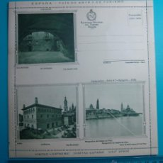 Postales: CARTA POSTAL PATRONATO NACIONAL DEL TURISMO ESPAÑA SERIE 9ª ZARAGOZA CIRCA 1930, NUEVA SIN CIRCULAR. Lote 39452806