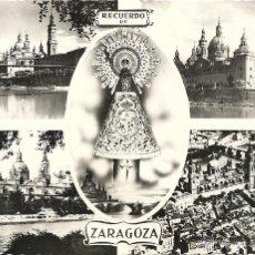 Postales: ZARAGOZA RECUERDO, EL PILAR, EDICIONES ARRIBAS. Lote 39766298