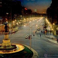 Postales: ZARAGOZA - POSTAL PASEO DE LA INDEPENDENCIA NOCTURNA. Lote 39779424
