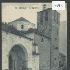 Postales: TORLA - 32 - LA IGLESIA - CLICHES ARRIBAS - (17894). Lote 39923051