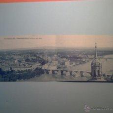 Postales: POSTAL DOBLE DE ZARAGOZA - Nº 19- PANORAMA DESDE LA TORRE DEL PILAR. Lote 40170959