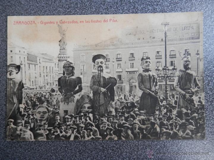 ARAGÓN ZARAGOZA GIGANTES Y CABEZUDOS (Postales - España - Aragón Antigua (hasta 1939))