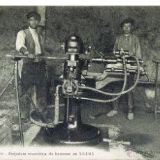 Postales: CATALANA DE GAS Y ELECTRICIDAD, Nº 42 BIS, FORJADORA NEUMATICA DE BARRENAS, 1,09,1913. Lote 40186142