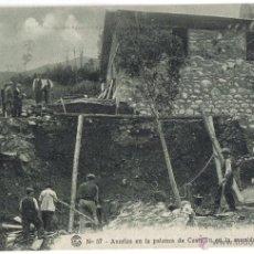 Postales: CATALANA DE GAS Y ELECTRICIDAD, Nº 57, AVERIA EN LA PALANCA DE CASTEJON 25,10,1913. Lote 40186196