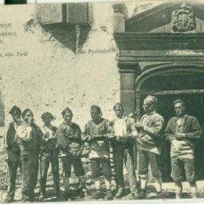 Postales: BENASQUE. PIRINEOS. GRUPO DE BENASQUESES. POSTAL EXCEPCIONAL. CIRCULADA 1903.. Lote 40186210
