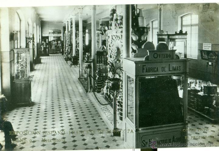 ZARAGOZA. EXPOSICIÓN HISPANO FRANCESA. METALISTERÍA. FOTO COYNE. AÑO 1908. (Postales - España - Aragón Antigua (hasta 1939))