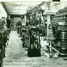 Postales: ZARAGOZA. EXPOSICIÓN HISPANO FRANCESA.ALIMENTACIÓN Y PERFUMERÍA. FOTO COYNE. AÑO 1908.. Lote 40203698