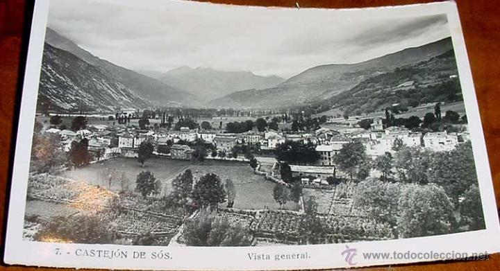 ANTIGUA FOTO POSTAL DE CASTEJON DE SOS HUESCA) - VISTA GENERAL - SIN CIRCULAR (Postales - España - Aragón Antigua (hasta 1939))