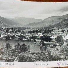 Postales: ANTIGUA FOTO POSTAL DE CASTEJON DE SOS HUESCA) - VISTA GENERAL - SIN CIRCULAR. Lote 39523905