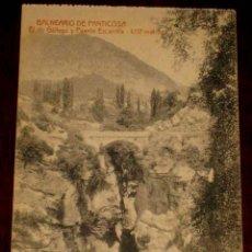 Postkarten - ANTIGUA POSTAL DE EL BALNEARIO DE PANTICOSA HUESCA) EL RIO GALLEGO Y PUENTE ESCARRILLA - M. ARRIBAS, - 39549933