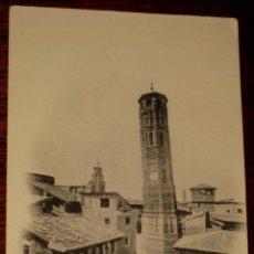 Postales: ANTIGUA POSTAL DE ZARAGOZA. TORRE NUEVA ( DERRIBADA ) FOTOTIPIA L. ESCOLA. Nº 27. SIN CIRCULAR Y SIN. Lote 39587634