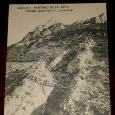Postales: ANTIGUA POSTAL DEL PANTANO DE LA PEÑA (HUESCA) - PRIMERA SENDA EN LA GORGOCHA. SERIE B.- 1.- HAUSER . Lote 39588481