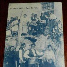 Postkarten - ANTIGUA POSTAL DE ZARAGOZA, TIPOS DEL PAIS, 18 - PUBLICIDAD DE CHOCOLATES COLUMBA, SIN CIRCULAR - 39608673