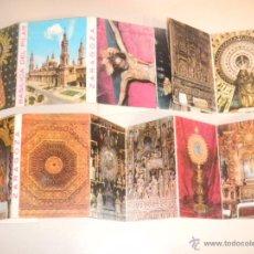 Postales: IÑI DESPLEGABLES POSTALES. CATEDRAL DE LA SEO. ZARAGOZA. RECUERDO SOUVENIR POST CARDS . LOTE BETA.. Lote 40699649