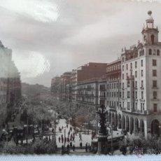 Postales: POSTAL DE ZARAGOZA. PLAZA DE ESPAÑA Y PASEO DE LA INDEPENDENCIA. AÑOS 60. CIRCULADA. Lote 40779220