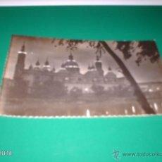 Postales: RARA POSTAL DE ZARAGOZA. AÑOS 50. TEMPLO DEL PILAR. USADA Y CON SELLO EN LA TRASERA. Lote 40971950