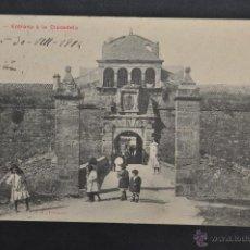 Cartes Postales: ANTIGUA POSTAL DE JACA. HUESCA. ENTRADA A LA CIUDADELA. CIRCULADA. Lote 41255313