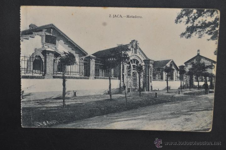 ANTIGUA POSTAL DE JACA. HUESCA. MATADERO. ED. HERAS. SIN CIRCULAR (Postales - España - Aragón Antigua (hasta 1939))
