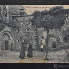 Postales: ANTIGUA POSTAL DE JACA. HUESCA. PLAZUELA DE LAS MONJAS. SIN CIRCULAR. Lote 41255816