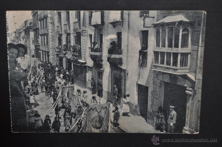 ANTIGUA POSTAL DE JACA. HUESCA. PROCESION DEL CORPUS. CALLE MAYOR. SIN CIRCULAR (Postales - España - Aragón Antigua (hasta 1939))