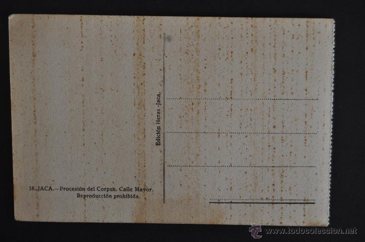 Postales: ANTIGUA POSTAL DE JACA. HUESCA. PROCESION DEL CORPUS. CALLE MAYOR. SIN CIRCULAR - Foto 2 - 41255845