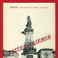 Postales: POSTAL ZARAGOZA, MONUMENTO DEL CENTENARIO DE LOS SITIOS, P91798. Lote 41264381