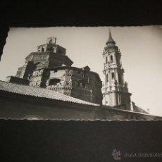 Postales: ZARAGOZA CATEDRAL DE LA SEO TORRE Y CIMBORRIO. Lote 41284235