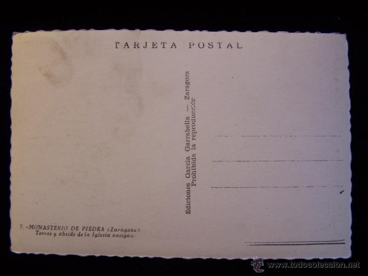 Postales: Postal fotográfica sin circular Ediciones García Garrabella, Zaragoza Monasterio de Piedra - Foto 2 - 41326342
