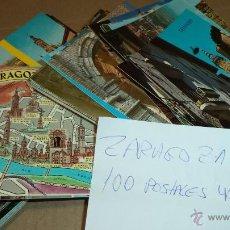 Postales: 100 POSTALES DE ZARAGOZA. AÑOS 80. 2-3 CIRCULADAS. Lote 41386780