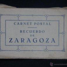 Postales: CARNET POSTAL RECUERDO DE ZARAGOZA ACORDEÓN 20 POSTALES 15 X 9, 5 CM . Lote 41415541
