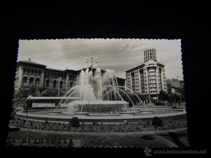 POSTAL FOTOGRÁFICA CIRCULADA 1959 ED SICILIA, ZARAGOZA SERIE Nº86 PLAZA DEL PARAÍSO FUENTE LUMINOSA (Postales - España - Aragón Moderna (desde 1.940))