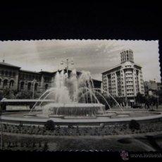 Postales: POSTAL FOTOGRÁFICA CIRCULADA 1959 ED SICILIA, ZARAGOZA SERIE Nº86 PLAZA DEL PARAÍSO FUENTE LUMINOSA. Lote 215500366