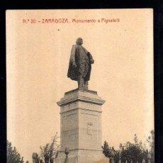 Postales: ZARAGOZA. MONUMENTO A PIGNATELLI. NO CIRCULADA. FOTOTIPIA THOMAS.. Lote 41772765