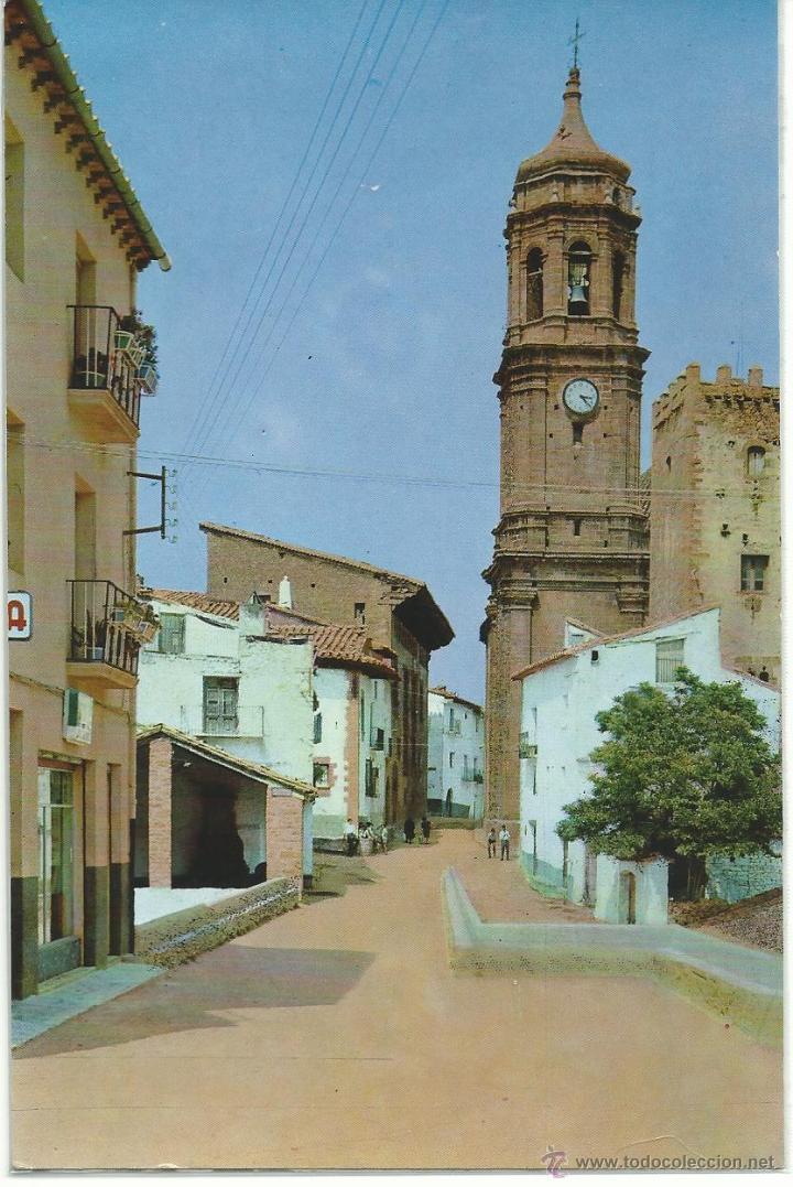 IGLESUELA DEL CID.-CALLE SAN PABLO.-EXCLUSIVAS BAZAR CENTELLES.-CASA DE LOS JAMONES Nº 1 (Postales - España - Aragón Moderna (desde 1.940))