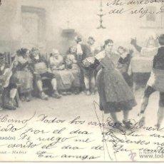 Postales: PS3684 ARAGÓN 'LA JOTA'. HAUSER Y MENET. CIRCULADA EN 1903. Lote 41946057