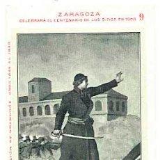 Postales: ZARAGOZA CENTENARIO SITIOS 1908 DON SANTIAGO SAS. LIT. E. PORTABELLA. SIN CIRCULAR. Lote 42547477