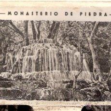 Postales: MONASTERIO DE PIEDRA. DESPLEGABLE 10 POSTALES. EDICIONES GARCÍA GARRABELLA, ZARAGOZA.. Lote 42751954