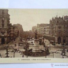 Postales: POSTAL ZARAGOZA, PASEO DE LA INDEPENDENCIA. Lote 42900493