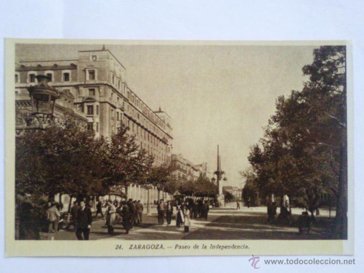 POSTAL ZARAGOZA, PASEO DE LA INDEPENDENCIA (Postales - España - Aragón Moderna (desde 1.940))