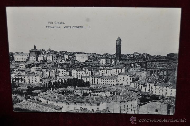 ANTIGUA POSTAL DE TARAZONA. ZARAGOZA. VISTA GENERAL. HAUSER Y MENET. CIRCULADA (Postales - España - Aragón Antigua (hasta 1939))
