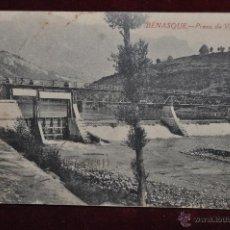 Postales: ANTIGUA POSTAL DE BENASQUE. HUESCA. PRESA DE VILLANOVA. CIRCULADA. Lote 42926587