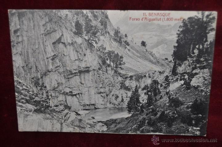 ANTIGUA POSTAL DE BENASQUE. HUESCA. FORAO D'AIGUALLUT. CIRCULADA (Postales - España - Aragón Antigua (hasta 1939))
