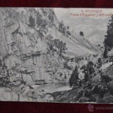 Postales: ANTIGUA POSTAL DE BENASQUE. HUESCA. FORAO D'AIGUALLUT. CIRCULADA. Lote 42926607