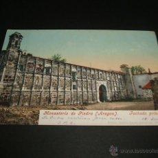 Postales: MONASTERIO DE PIEDRA ARAGON FACHADA PRINCIPAL EDITOR CECILIO GASCA PURGER Nº 36. Lote 43030720
