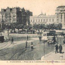 Postcards - 7. ZARAGOZA - PLAZA DE LA CONSTITUCIÓN Y DIPUTACIÓN H.A.E. SIN CIRCULAE - 43065312