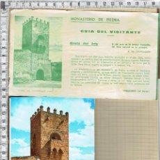 Postales: ACORDEON POSTALES Y ENTRADA GUIA DEL VISITANTE-MONASTERIO DE PIEDRA-ZARAGOZA.. Lote 43270025